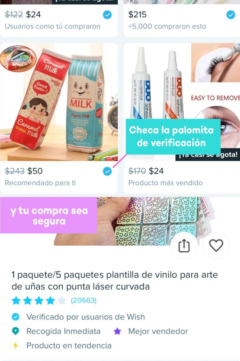 Compras en Wish de papelería bonita_VENDEDOR