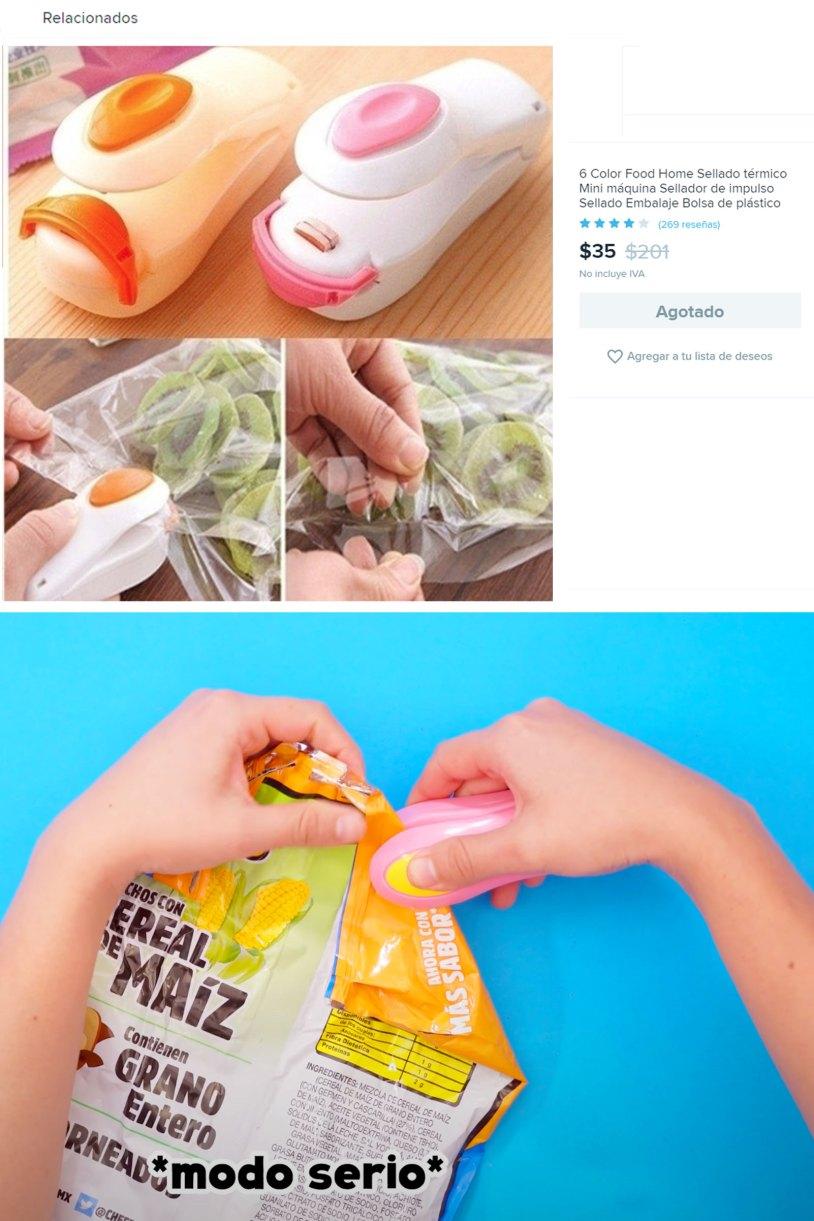 Mi experiencia comprando en Wish_Sellador de bolsas