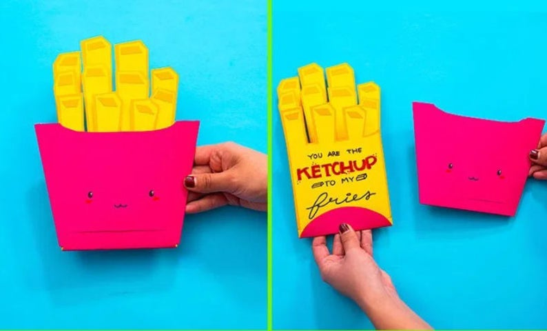 Regalos de San Valentín: Tarjeta original de papas fritas