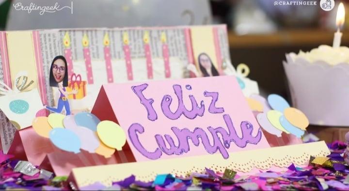Feliz cumple: tarjeta de cumpleaños para una amiga