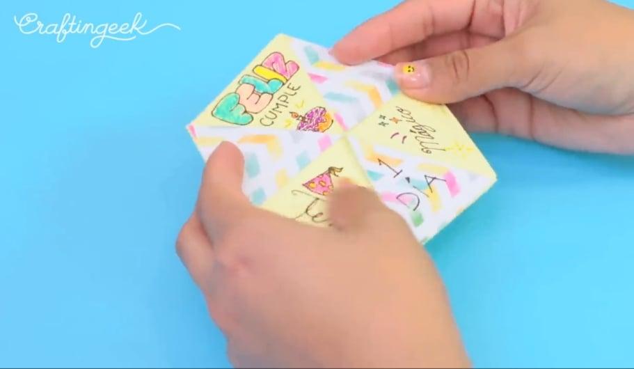 tarjeta hexaflexagono cara 3