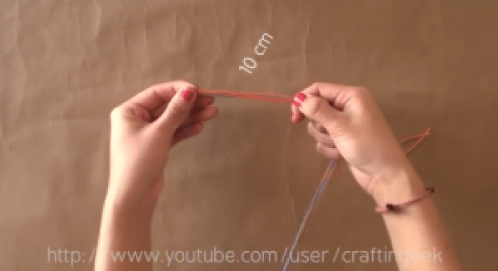 trenza de hilo torcido