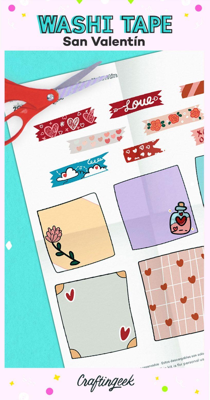 Post-its y Washi tapes de San Valentín
