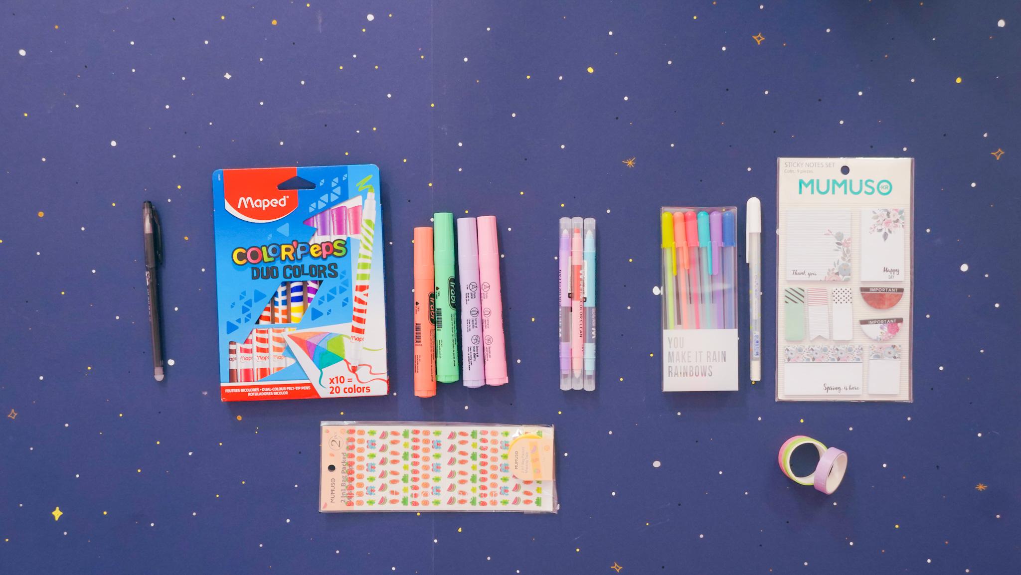 El kit básico perfecto para saber como decorar tus apuntes.