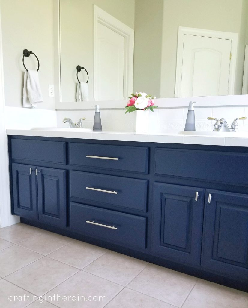 Dark Blue Bathroom Vanities