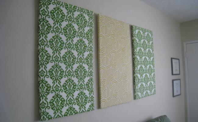 Diy Fabric Wall Art Crafting Is Sanity