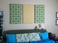 DIY Fabric Wall Art | crafting is sanity