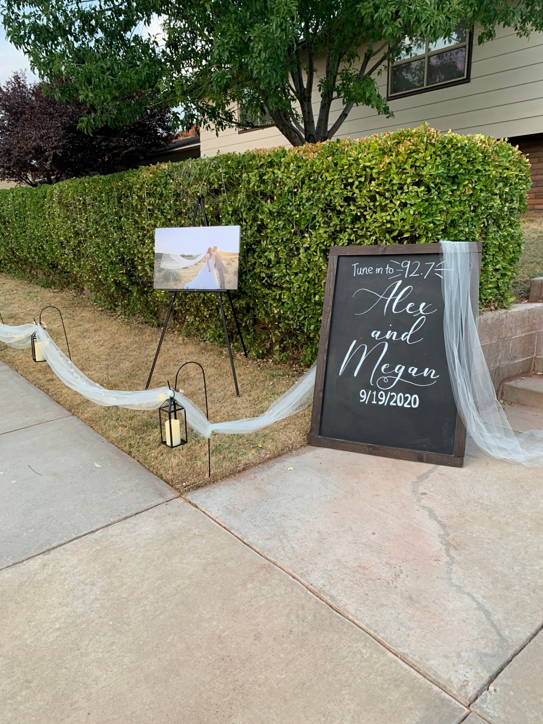 DIY Social Distanced Wedding Reception