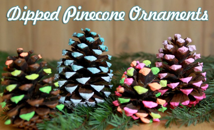 dipped pine cone ornaments