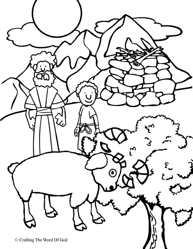 Abraham Offers Isaac- Coloring Page « Crafting The Word Of God