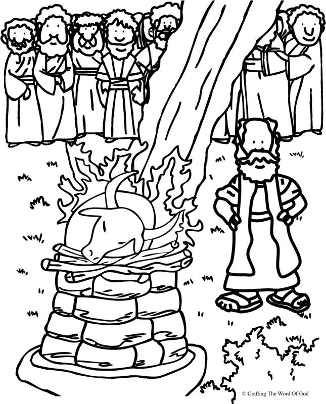 Elijah And The Prophets Of Baal- Coloring Page « Crafting
