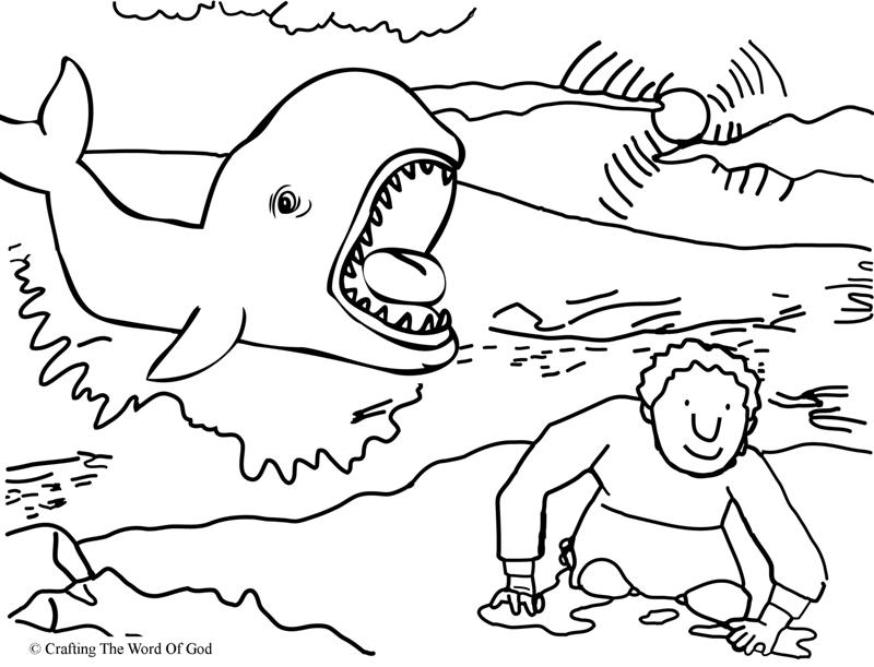 Jonah And The Fish- Coloring Page « Crafting The Word Of God
