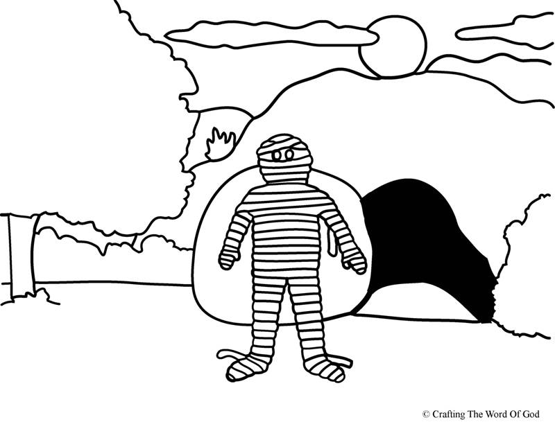Lazarus Raised From The Dead- Coloring Page « Crafting The