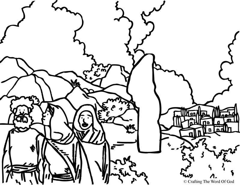 Lots Wife- Coloring Page « Crafting The Word Of God