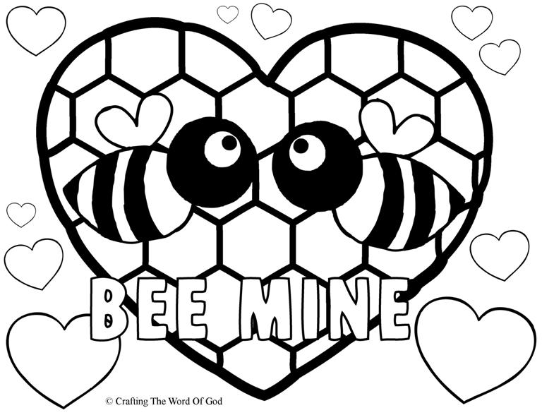 Bee Mine- Coloring Page « Crafting The Word Of God