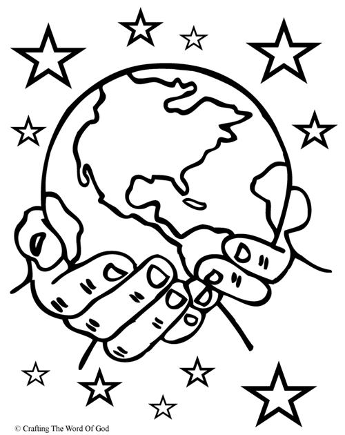 God The Creator- Coloring Page « Crafting The Word Of God