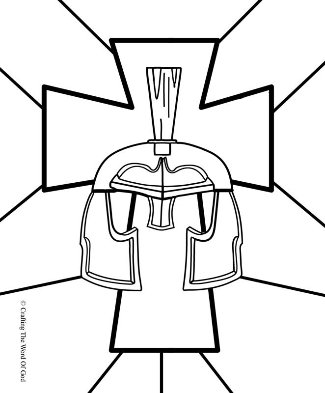 Helmet Of Salvation- Coloring Page « Crafting The Word Of God
