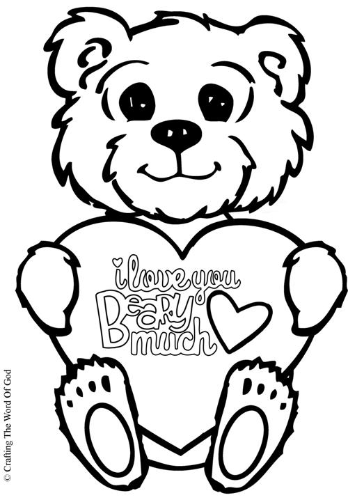 I Love You Beary Much- Coloring Page « Crafting The Word