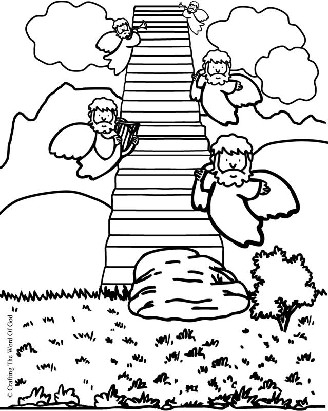 Jacobs Ladder- Coloring Page « Crafting The Word Of God