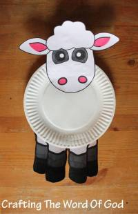 paper plate lamb  Crafting The Word Of God