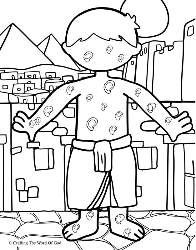 The Plague Of Boils- Coloring Page « Crafting The Word Of God