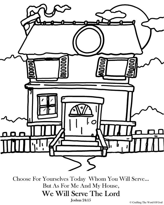 We Will Serve The Lord- Coloring Page « Crafting The Word