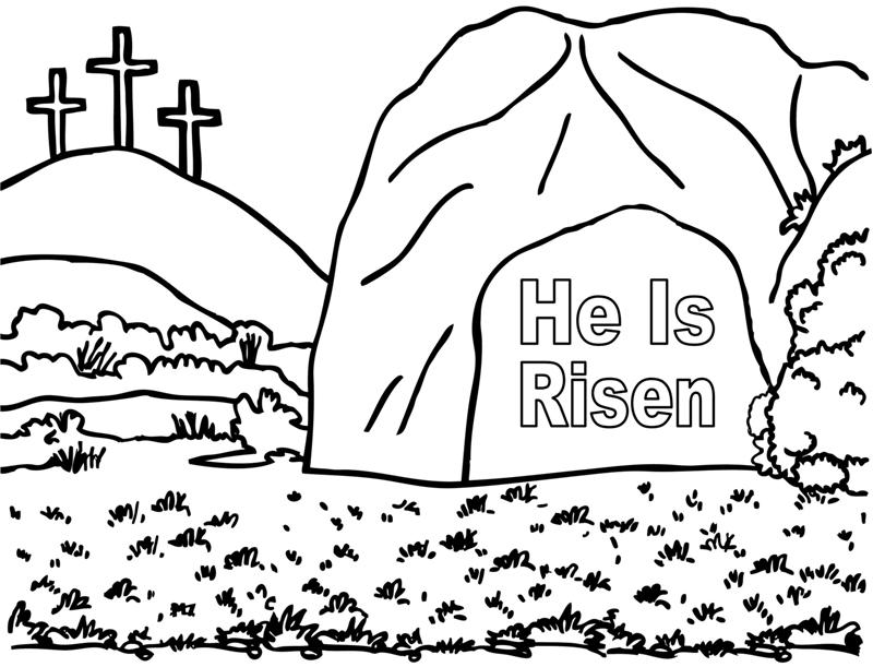 He Is Risen- Coloring Page « Crafting The Word Of God