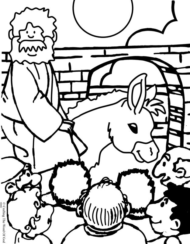 Jesus Enters Jerusalem- Coloring Page « Crafting The Word