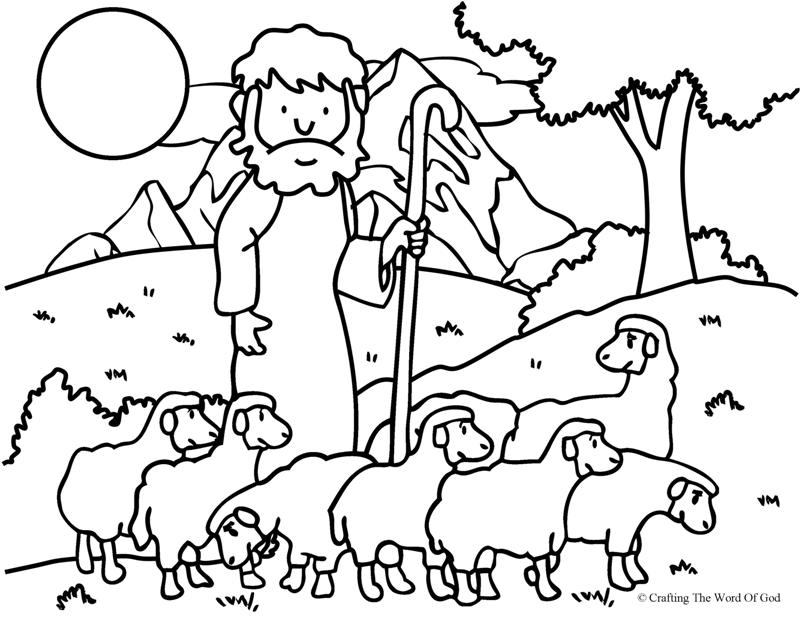 The Good Shepherd (The Lost Sheep)- Coloring Page