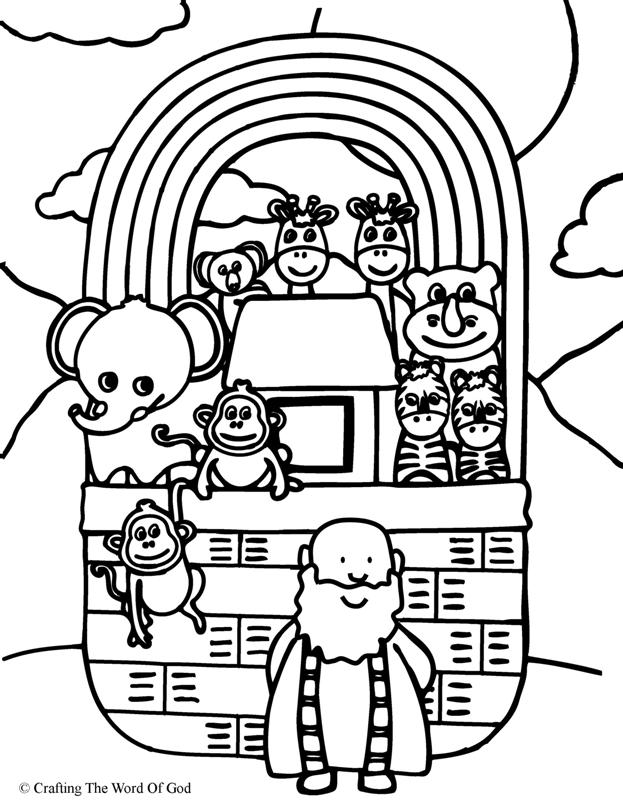 Noahs Ark- Coloring Page « Crafting The Word Of God