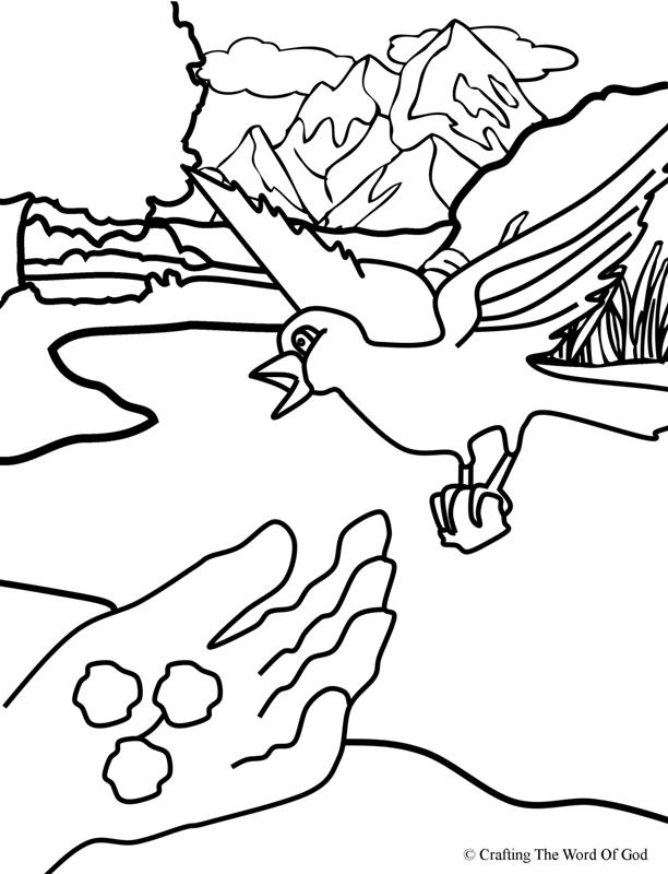 Elijah Fed By Ravens- Coloring Page « Crafting The Word Of God