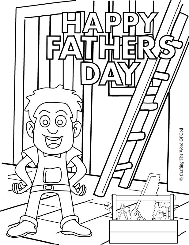 Happy Fathers Day 1- Coloring Page « Crafting The Word Of God