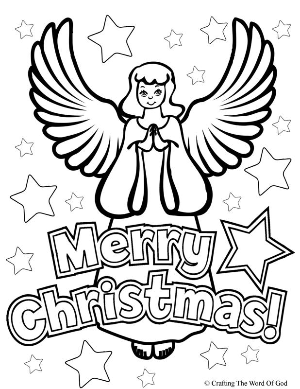 Christmas Angel- Coloring Page « Crafting The Word Of God