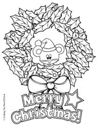 Christmas Wreaths Flowers - Free Colouring Pages