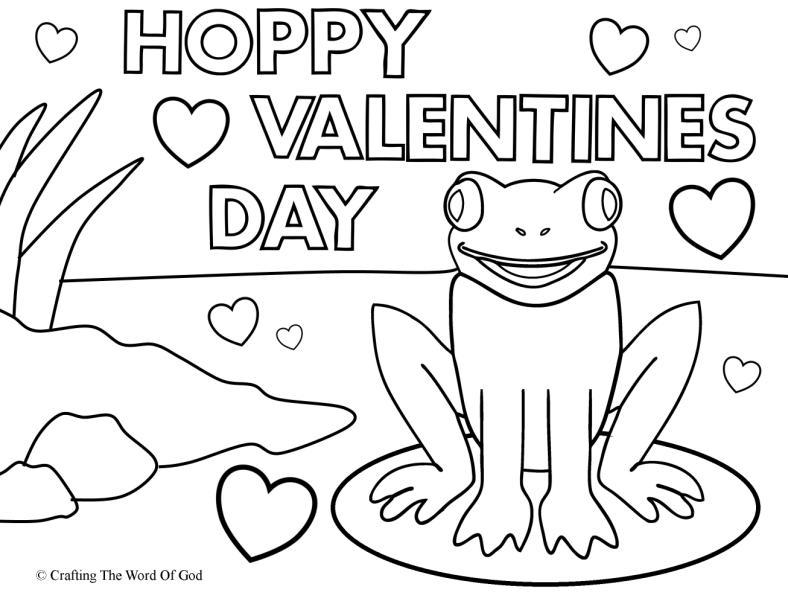 Hoppy Valentines Day- Coloring Page « Crafting The Word Of God