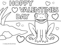 Hoppy Valentines Day Coloring Page 171 Crafting The Word Of God