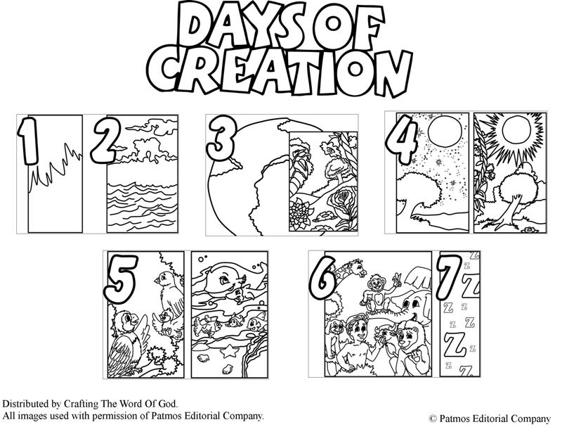 days of creation coloring page « Crafting The Word Of God