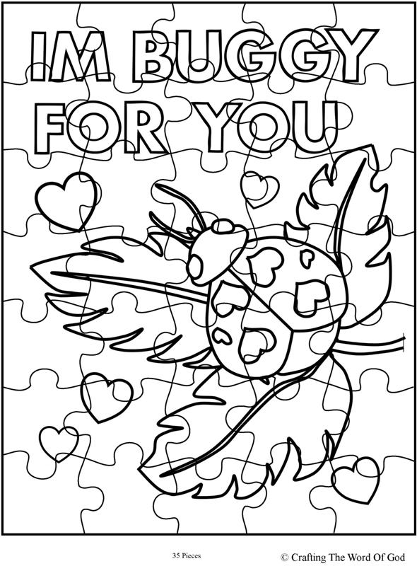 Im Buggy For You Puzzle- Activity Sheet « Crafting The