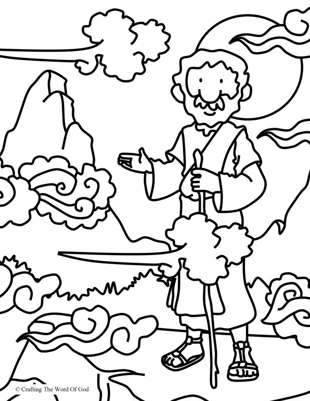 Elijah At Horeb- Coloring Page « Crafting The Word Of God