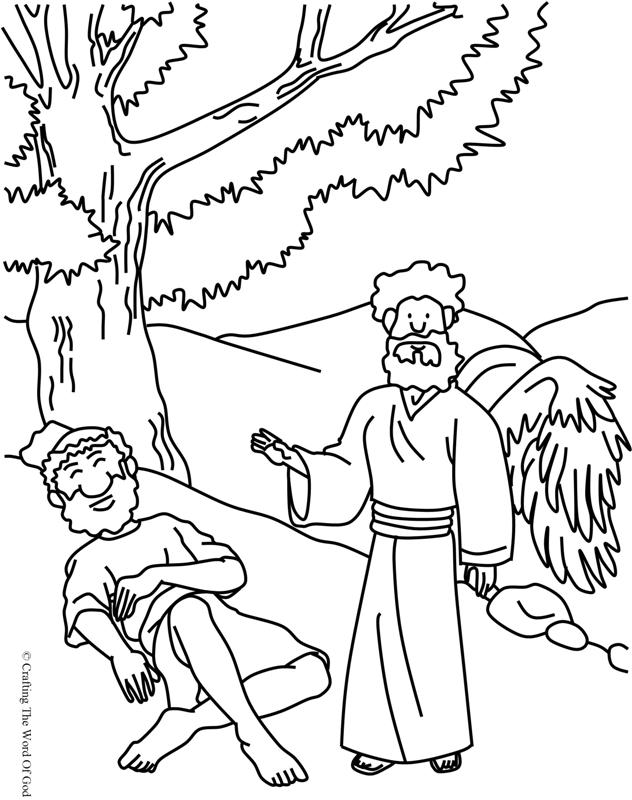 Elijah Fed By God- Coloring Page « Crafting The Word Of God