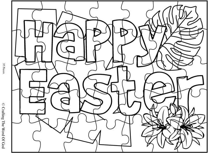 Happy Easter 1 Puzzle- Activity Sheet « Crafting The Word