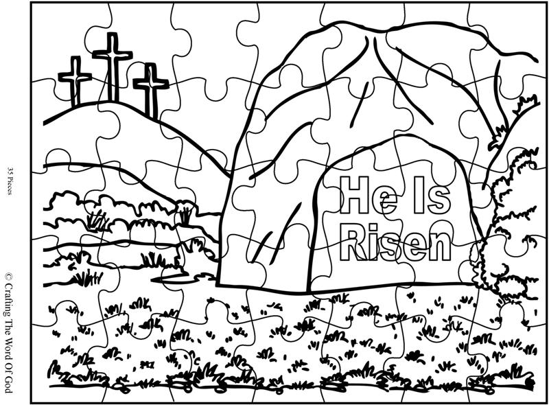 He Is Risen Puzzle- Activity Sheet « Crafting The Word Of God
