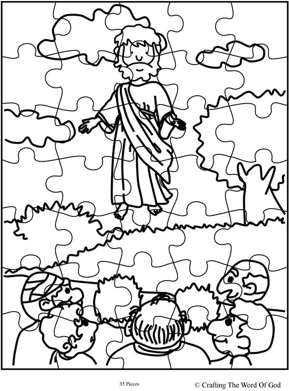 Jesus Ascension Puzzle- Activity Sheet « Crafting The Word