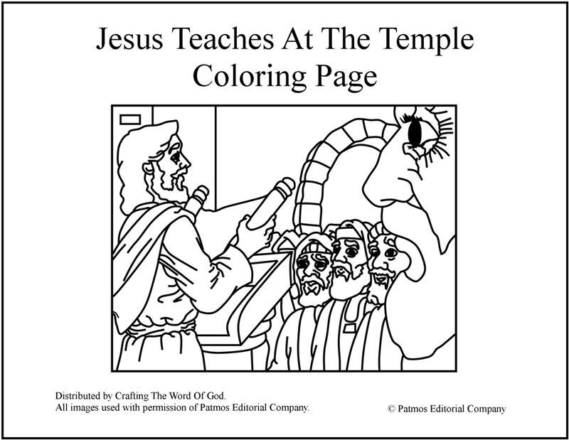 Jesus Teaches At The Temple- Coloring Page « Crafting The
