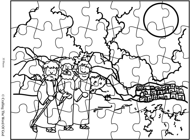 Road To Emmaus Puzzle- Activity Sheet « Crafting The Word