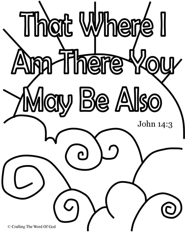 That Where I Am There You May Be Also Coloring Page
