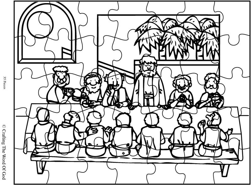 The Lords Supper Puzzle- Activity Sheet « Crafting The