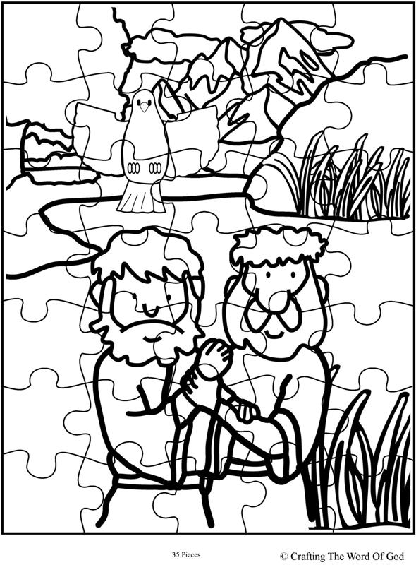 Jesus Baptism Puzzle- Activity Sheet « Crafting The Word
