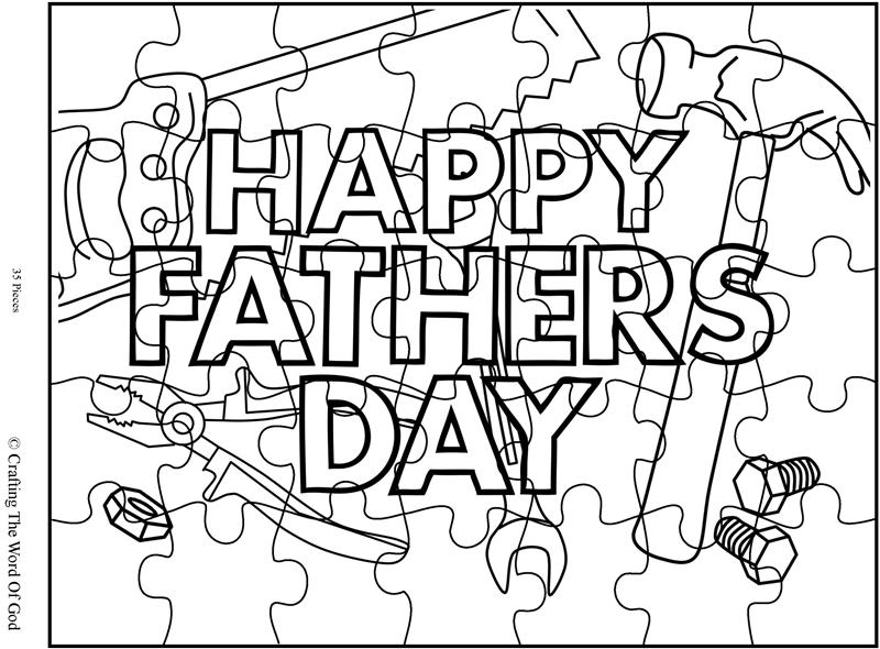 Happy Fathers Day 1 Puzzle- Activity Sheet « Crafting The