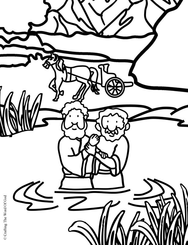 Philip And The Ethiopian- Coloring Page « Crafting The